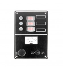 3 Gang Switch Panel Model: 10034-BK