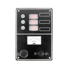 3 Gang Switch Panel Model: 10034-BK