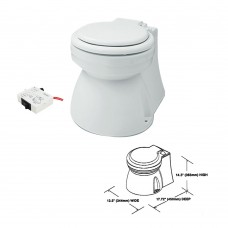 Electric Marine Toilet - Small Skirted Bowl