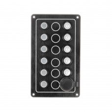 5 Gang Switch Panel - With Cigarette Socket