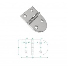 Stainless Steel Heavy Duty Hinge 316 Model No: 81006-01