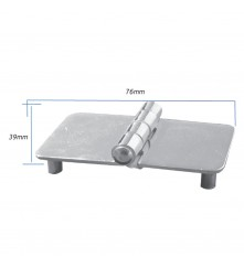 Hinge with Thread Shank M5 - AISI 304 Model No: 006155-316
