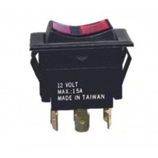 Illuminated Rocker Switch - 6 Pin