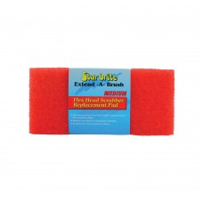 Flexible Head Scrubber Replacement (Medium) Red