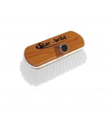 "Hard Wash Brush - Wood Block 8"" with Bumper Brush (White) - 040172"