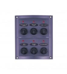 6 Gang Switch Panel - With LED Indicators Model: 10064-LT