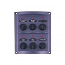 6 Gang Switch Panel - With LED Indicators Model: 10064-LT
