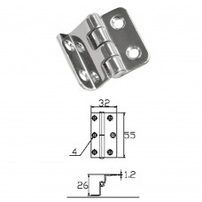 Stainless Steel Hinge 304 Model No: 52522
