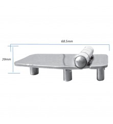 Hinge with Thread Shank M5 - AISI 304 Model No: 006152-316