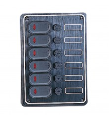 6 Gang Switch Panel Model: 10067