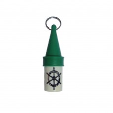 Floating Key Chain - Stainless Steel Ring (Green)