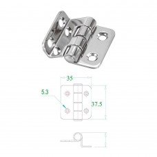 Stainless Steel Hinge 304 Model No: 52576