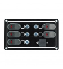 5 Gang Switch Panel - With USB Port Model: 10261-BK