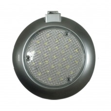 LED Dome Switch Light - Surface Mount (Silver Grey Body)