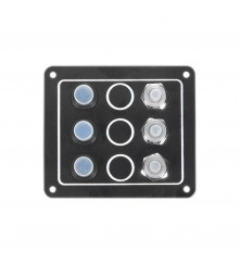 3 Gang Switch Panel Model: 10032-BK
