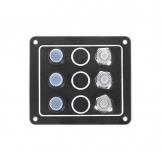 3 Gang Switch Panel Model: 10032-BK