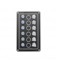 6 Gang Switch Panel Model: 10062-BK