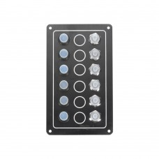 6 Gang Switch Panel Model: 10062-BK