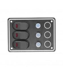 3 Gang Switch Panel Model: 10031-BK