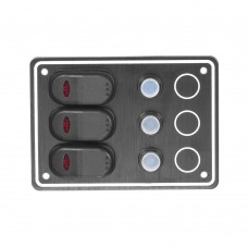 3 Gang Switch Panel Model: 10031-BK