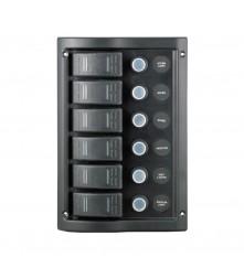 6 Gang Switch Panel Model: 10016-BK
