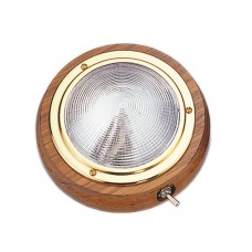 "Teak Wood Dome Light 4"" - Surface Mount 00543"