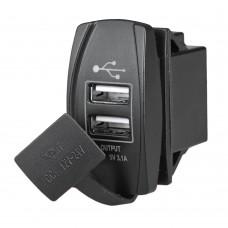 Duel USB Port With Cap