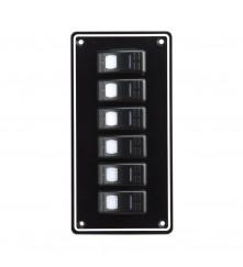 6 Gang Switch Panel Model: 10063-BK