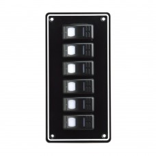 6 Gang Switch Panel Model: 10063-BK