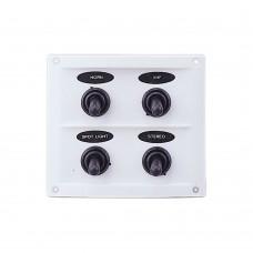 4 Gang Switch Panel - White Panel