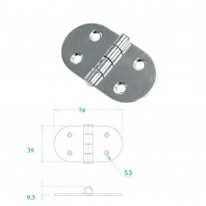 Stainless Steel Hinge 304 Model No:52570