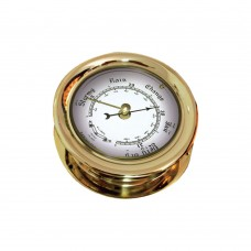Lacquered Brass Case Barometer