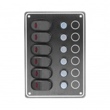 6 Gang Switch Panel Model: 10061-BK