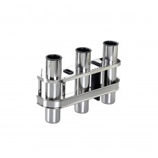 Stainless Steel Rod Holder - 3 Rods