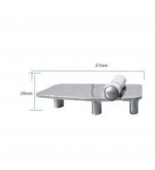 Hinge with Thread Shank M5 - AISI 304 Model No: 006151-316