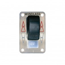 Rocker Switch Panel with Safety On/Off Switch - Stainless Steel Front