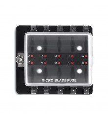 10 Gang Micro Blade Fuse Holder