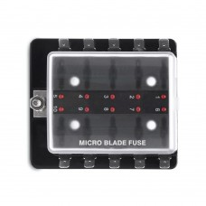 10 Gang Micro Blade Fuse Holder