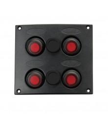 4 Gang Switch Panel Model: 10039-BK