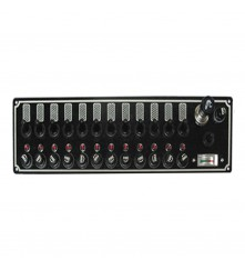 12 Gang Switch Panel With Cigarette Lighter and Battery Tester