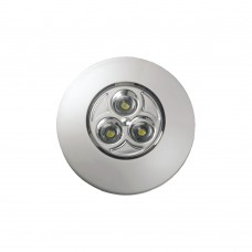 """LED PUSH-ON / OFF LIGHT (SM) WITH 3 x """"AAA"""" BATTERIES & ADHESIVE LABEL - 00066-WH"""