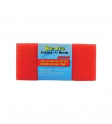 Flexible Head Scrubber Replacement (Medium) Red