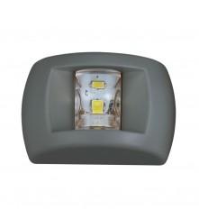 LED White Masthead Navigation Light Black Housing For Boats Up to 12m - (00424)