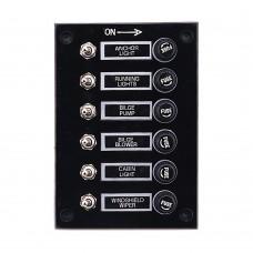 6 Gang Switch Panel