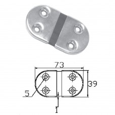 Stainless Steel Hinge 304 Model No: 52520