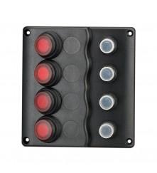 4 Gang Switch Panel Model: 10041-BK