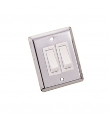 Chrome Plated Wall Switch - 2 Way