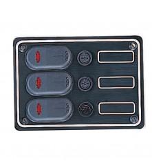 3 Gang Switch Panel Model: 10037