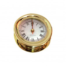 Lacquered Brass Case Clock