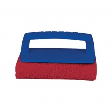 Scrub Pad with Handle (Medium) Red